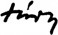 Túry Mária aláírása