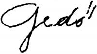 Gedő Ilka aláírása