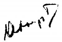 Abonyi Tivadar aláírása