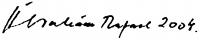 Ábrahám Rafael aláírása