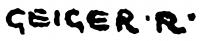 Geiger Richárd aláírása