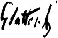 Glatter, Ármin Signature