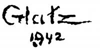 Glatz, Oszkár Signature