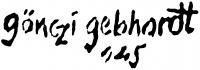 Gönczi Gebhardt Tibor aláírása