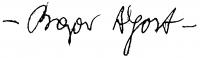 Bajor Ágost aláírása