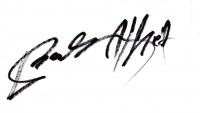 Balázs Alfréd aláírása