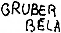 Gruber Béla aláírása