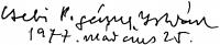 Csebi Pogány István aláírása