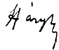 Háry, Gyula Signature