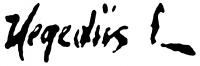 Hegedüs László aláírása