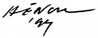 Hencze Tamás aláírása