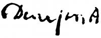 Demjén Attila aláírása