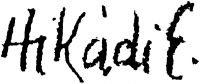 Hikádi Erzsébet aláírása
