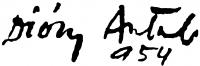 Diósy Antal aláírása