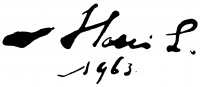 Holló László aláírása