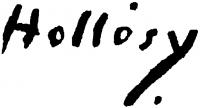 Hollósy Simon aláírása