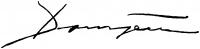 Domján József aláírása