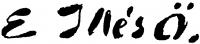 Edvi Illés Ödön aláírása