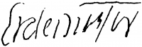 Erdei Viktor aláírása