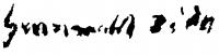 Iványi Grünwald, Béla Signature