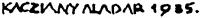 Kacziány Aladár aláírása