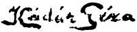 Kádár Géza aláírása