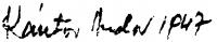 Kántor Andor aláírása