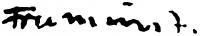 Francsics József aláírása