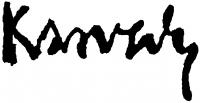 Karvaly Mór aláírása