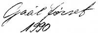 Gaál József aláírása