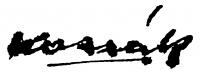 Kassák Lajos aláírása