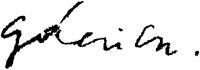 Gácsi Mihály aláírása