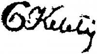 Kelety Gusztáv aláírása
