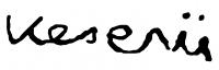 Keserü Ilona aláírása