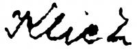 Klie Zoltán aláírása