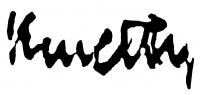 Kmetty János aláírása