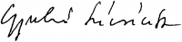Gyulai Líviusz aláírása