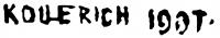 Kollerich István aláírása
