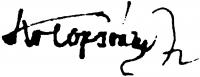 Kolozsváry Zsigmond aláírása