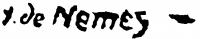Haranglábi Nemes József aláírása