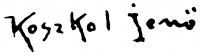 Koszkol Jenő aláírása