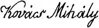 Kovács Mihály aláírása