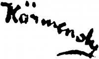Körmendi-Frim Ervin aláírása