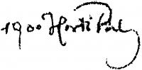 Horti Pál aláírása