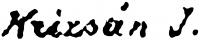 Krizsán János aláírása
