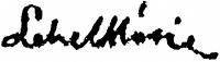 Lehel Mária aláírása