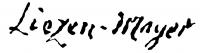 Liezen-Mayer Sándor aláírása