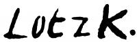 Lotz, Károly Signature