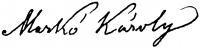 Id. Markó Károly aláírása