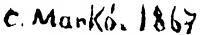 Ifj. Markó Károly aláírása